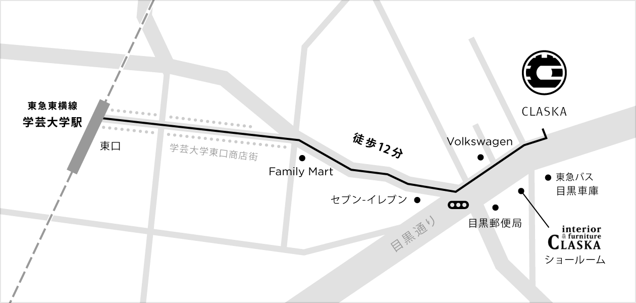 学芸大学駅からのアクセス